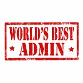 World's Best Admin-stamp
