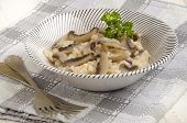 Risotto Rice With Cooked Mushroom