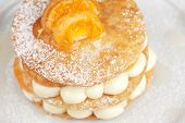 millefeuille with tangerine tasty dessert