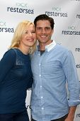 LOS ANGELES - MAY 3:  Adrienne Frantz, Scott Bailey at the RESTORSEA Gifting of Skin Care Product at NEMO on May 3, 2014 in West Hollywood, CA