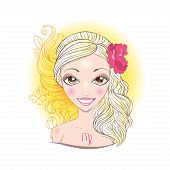 Vector illustration of Virgo zodiac sign.