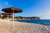 Javea Xabia playa Benissero beach Muntanyar in Alicante at Mediterranean spain