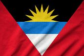 Ruffled Antigua And Barbuda Flag