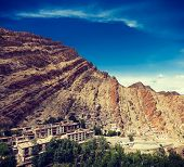 picture of jammu kashmir  - Vintage retro effect filtered hipster style travel image of Hemis gompa  - JPG