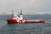 Tug and Barge at Singapore anchorage