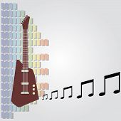 electric guitar and equalizer background