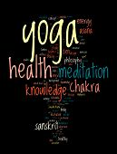 YOGA. Word cloud concept illustration.