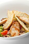 image of caesar salad  - Caesar Salad with Chicken Fillet - JPG