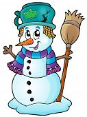 Winter snowman theme image 6 - eps10 vector illustration.