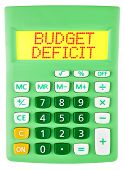 Calculator With Budget Deficit On Display Isolated