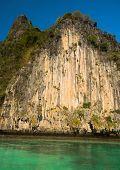 Idyllic Island Lagoon Mountains