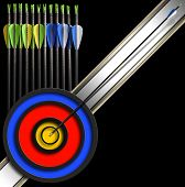 Archery Background - Arrows And Target