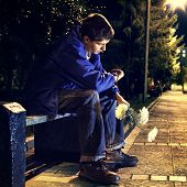 Teenager In The Night Park