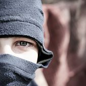 Teenager In Balaclava