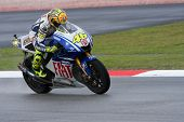 Valentino Rossi at the Shell Malaysian Motogp