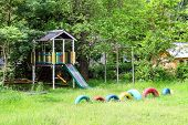 Playground Near The Country House