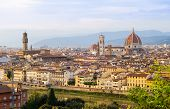 Sunset View Of Florence, Tuscany, Italy