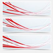 Bright Red Speed Rapid Swoosh Stream Line Header