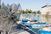 Fishing Nets, Creels And Fishing Boats