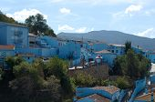 The Blue Smurf Town in Andalucia