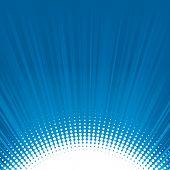 Blue shine halftone background