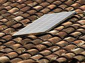 solar panel rural tile roof