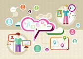 Global social network abstract scheme
