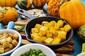 Autumn vegetables - fried pumpkin
