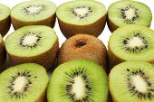 Juicy kiwi close-up