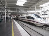 High Speed Train In Atocha Station