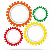 Abstract Color Gear Wheels