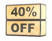 40 percent Sale Discount