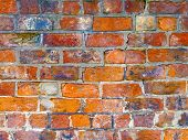 Close up of a section of a brick wall for backgrounds