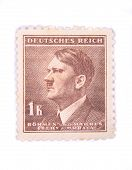 Old Postage Stamp With Adolf Hitler