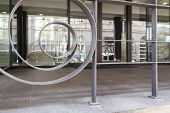 Handrail In Front Of Business Centre