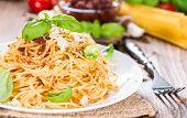 Spaghetti And Tomato Pesto