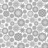 Contrast Seamless Pattern With Ornate Rounds