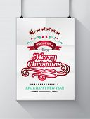 Digitally generated Christmas greeting message with illustrations vector