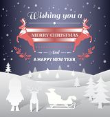Digitally generated Christmas vector with message and characters