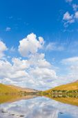 picture of galway  - Killary Harbour at Leenane in Galway with a reflection of clouds in the water - JPG