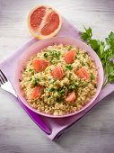 risotto with grapefruit and parsley