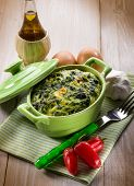 foto of turnips  - vegetarian pie with spinach and turnip top - JPG