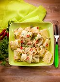 paccheri with carrot capers and hot chili pepper