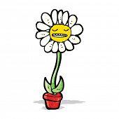 flower cartoon character