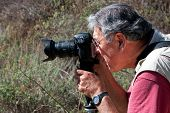 Profile of Photographer In Action
