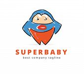 Abstract vector big super monster logo icon concept. Logotype template for branding and corporate de
