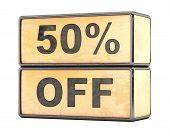 50 percent Sale Discount