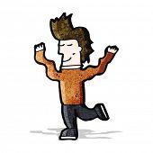 cartoon prancing man