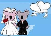 koala married cartoon background