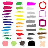 Colorful Blobs Set, Vector Illustration